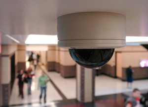 Administrators at Ann Arbor's Skyline High School are exploring the installation of hallway security cameras, similar to this one at Whitmore Lake High School in Whitmore Lake. File photo | AnnArbor.com